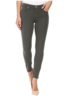 7 For All Mankind The Ankle Skinny w/ Contour Waist Band in Olive