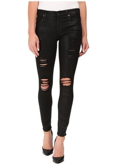 7 For All Mankind The Ankle Skinny w/ Destroy in Coated Fashion 2