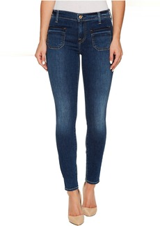 7 For All Mankind The Ankle Skinny w/ Front Released Pockets in Stunning Bleeker 3