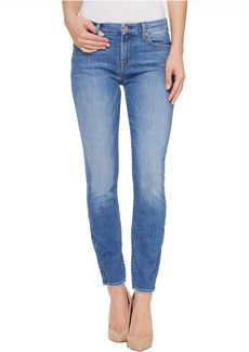 7 For All Mankind The Ankle Skinny w/ Grinded Hem in Adelaide Bright Blue
