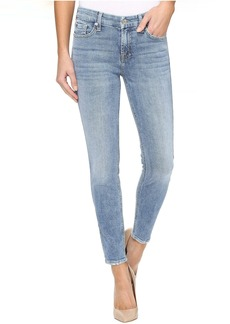 7 For All Mankind The Ankle Skinny w/ Grinded Hem in Gold Coast Waves