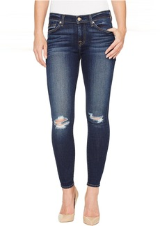 7 For All Mankind The Ankle Skinny w/ Knee Holes in Dark Paradise