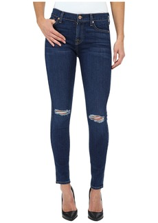 7 For All Mankind The Ankle Skinny w/ Knee Holes in Slim Illusion Stunning Seville 2