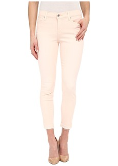 7 For All Mankind The Ankle Skinny w/ Released Hem in Crystal Pink