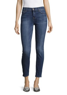 7 For All Mankind The Ankle Solid Skinny Jeans