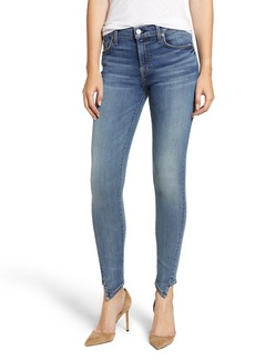 7 For All Mankind® The Ankle Splice Hem Skinny Jeans (Authentic Fortune)