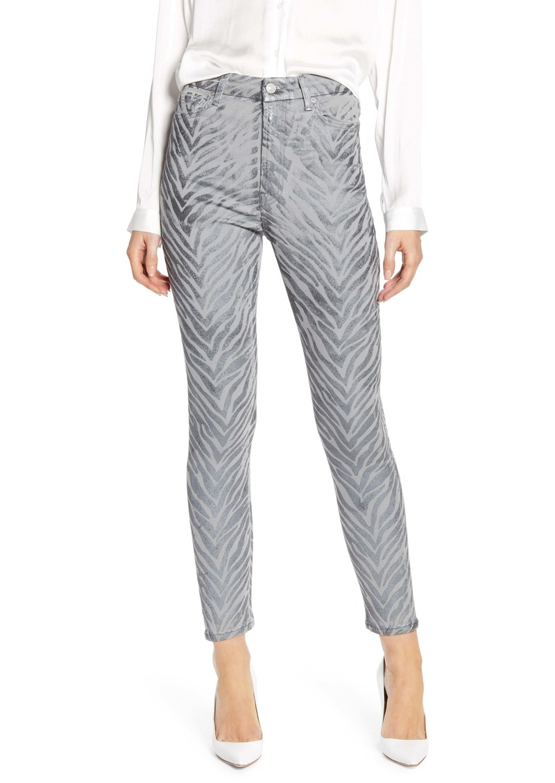 7 For All Mankind® The High Waist Ankle Skinny Jeans (Metallic Zebra)