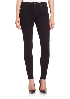 7 For All Mankind The High-Rise Skinny Slim Illusion Jeans