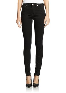 7 For All Mankind The High Waist Skinny Slim Illusion Jeans