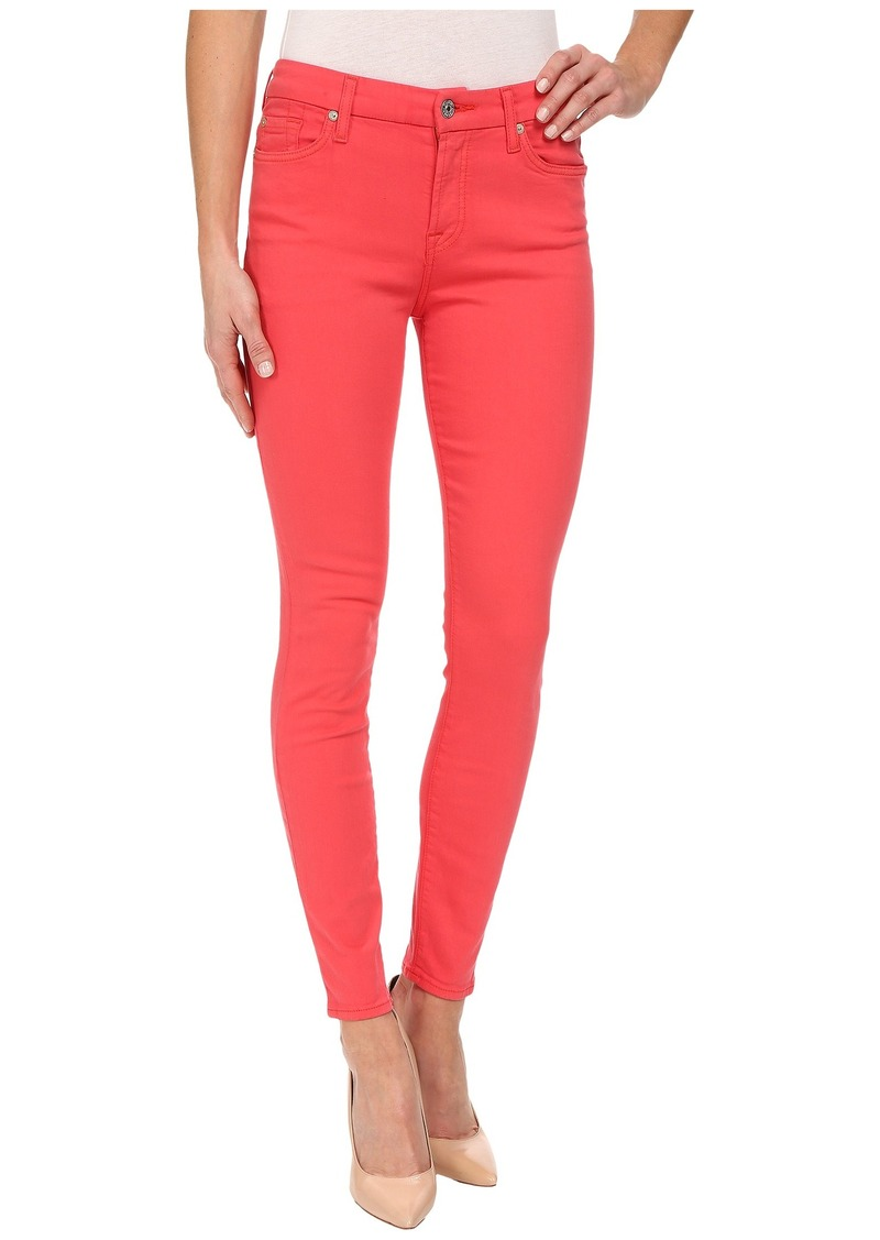 7 For All Mankind The Mid Rise Ankle Skinny in Cherry Red