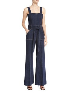7 For All Mankind The Palazzo Denim Jumpsuit