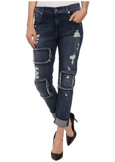 7 For All Mankind The Relaxed Skinny w/ Patched/Destroyed Vivid Blue
