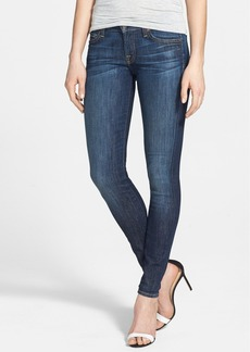 7 For All Mankind® 'The Skinny' Mid Rise Skinny Jeans (Nouveau New York Dark)