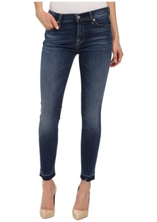7 For All Mankind The Skinny w/ Contrast Squiggle & Released Hem in La Palma Blue