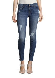 7 For All Mankind The Skinny Ankle Jeans With Squiggle