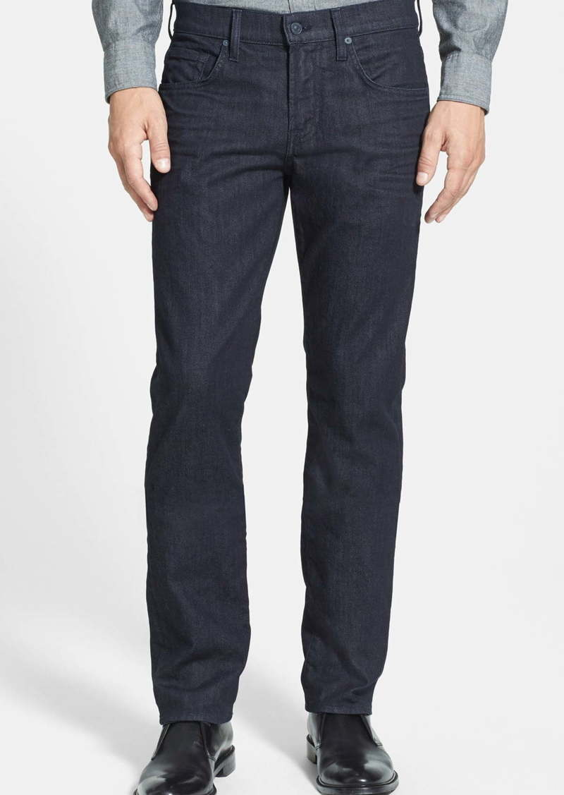 7 For All Mankind® The Straight Luxe Performance Slim Straight Leg Jeans (Deep Well)