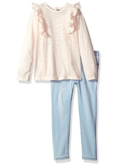 7 for all mankind Girls' Toddler Fashion Top and Pant Set (More Styles Available) G3279-PinkDogwood