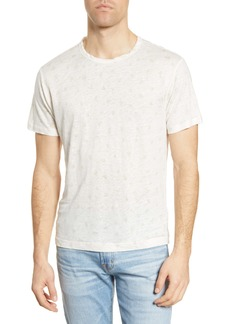 7 For All Mankind® Triangle Print Linen T-Shirt