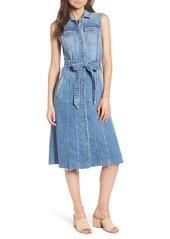 7 For All Mankind® Trucker Denim Midi Dress