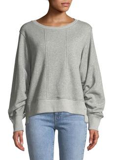 7 For All Mankind Tucked-Sleeve Crewneck Sweatshirt