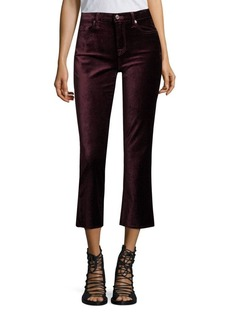 7 For All Mankind Velvet Cropped Flared Jeans
