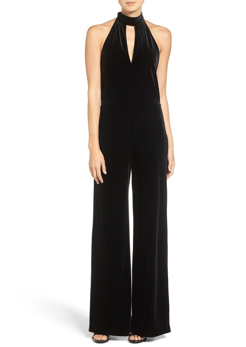 7 For All Mankind® Velvet Halter Jumpsuit