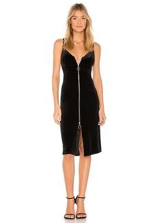 7 For All Mankind Velvet Slip Dress in Black. - size L (also in M,S,XS)
