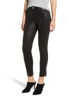 7 For All Mankind® Velvet Skinny Jeans (Black Coated)