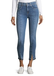 Vented Cuff Ankle Jeans