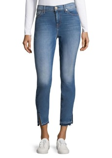 7 For All Mankind Vented-Cuff Skinny Jeans