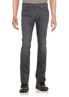 7 For All Mankind Slimmy Washed Five-Pocket Jeans