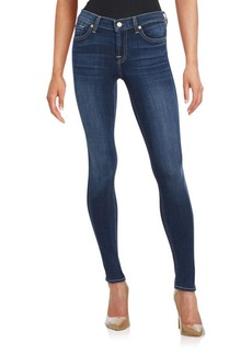 7 For All Mankind Washed Five-Pocket Jeans