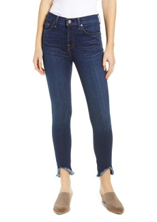 7 For All Mankind® Wave Hem Ankle Skinny Jeans (Serrano Night)