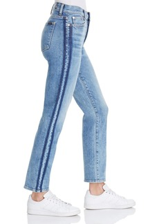 7 For All Mankind WeWoreWhat X Bloomingdale's Edie Straight-Leg Jeans in Gold Coast Waves - 100% Exclusive