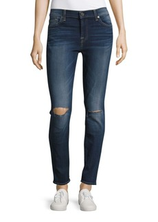 7 For All Mankind Whiskered Ankle Length Jeans
