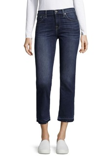 7 For All Mankind Whiskered Crop Boot Jeans