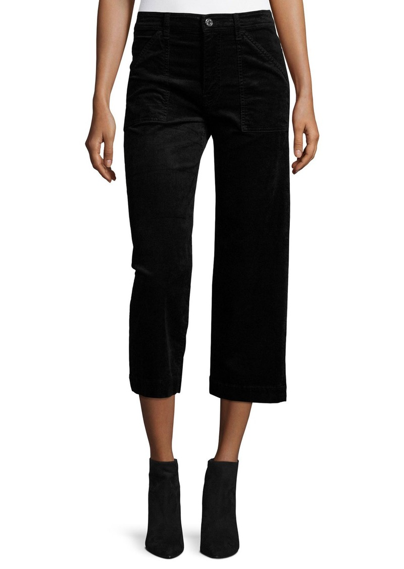 7 For All Mankind Wide-Leg Velvet Culottes