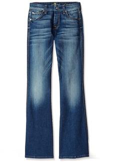 "7 For All Mankind Women's ""A"" Pocket Flare Jean in Bright Indigo  34.5x"