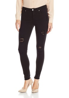 7 For All Mankind Women's Ankle Skinny Jean in Slim Illusion Luxe Black  32