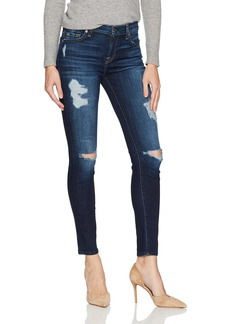 7 For All Mankind Women's Ankle Skinny Jean with Destroy