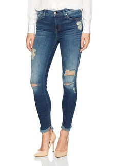 7 For All Mankind Women's Ankle Skinny Jean with Destroy and Scallop Hem Liberty