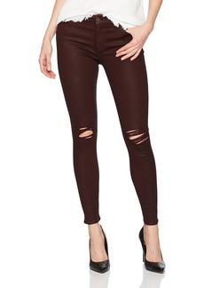 7 For All Mankind Women's Ankle Skinny Jean with Destroy in Coated Color SCARLETE2