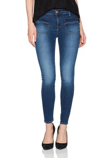 7 For All Mankind Women's Ankle Skinny Jean With Front Released Pockets