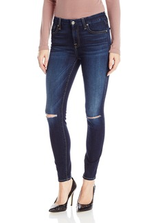7 For All Mankind Women's Ankle Skinny Jean with Knee Slits in