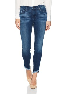 7 For All Mankind Women's Ankle Skinny Jean with Raw Angled Hem 5THAVE