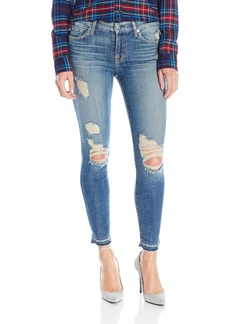 7 For All Mankind Women's Ankle Skinny Jean with Released Hem and Destroy  32