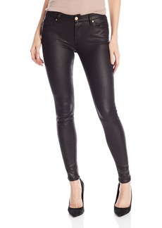 7 For All Mankind Women's Crackle Leather-Like Skinny Jean