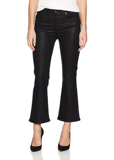7 For All Mankind Women's Cropped Ali Flared Leg Jean Coated Color