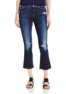 7 For All Mankind Women's Cropped Boot Jean with Holes in 2