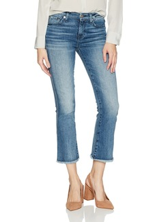 7 For All Mankind Women's Cropped Boot Jean with Raw Hem